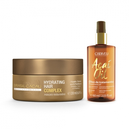 Hydrating Hair Complex Brasil Cacau + Acaí Oil